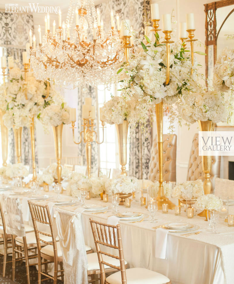 Glamorous Gold And Ivory Wedding Theme Elegantwedding Ca